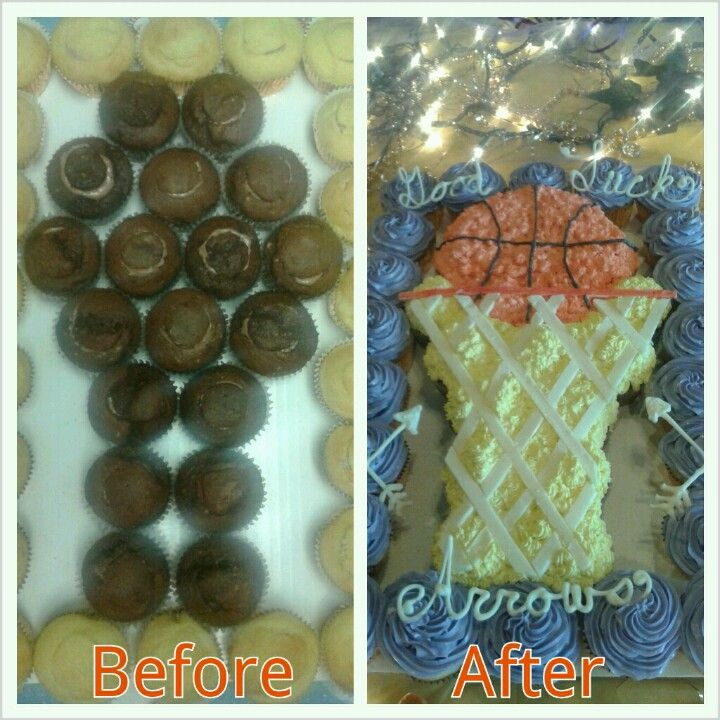 Basketball Hoop Cupcake Cake Crazy About Cupcakes Pinterest