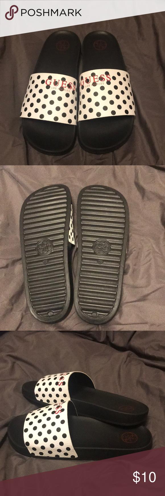 f6a63933024c NWOT guess polka dot slides Cute slides! Never worn. Guess Shoes Sandals