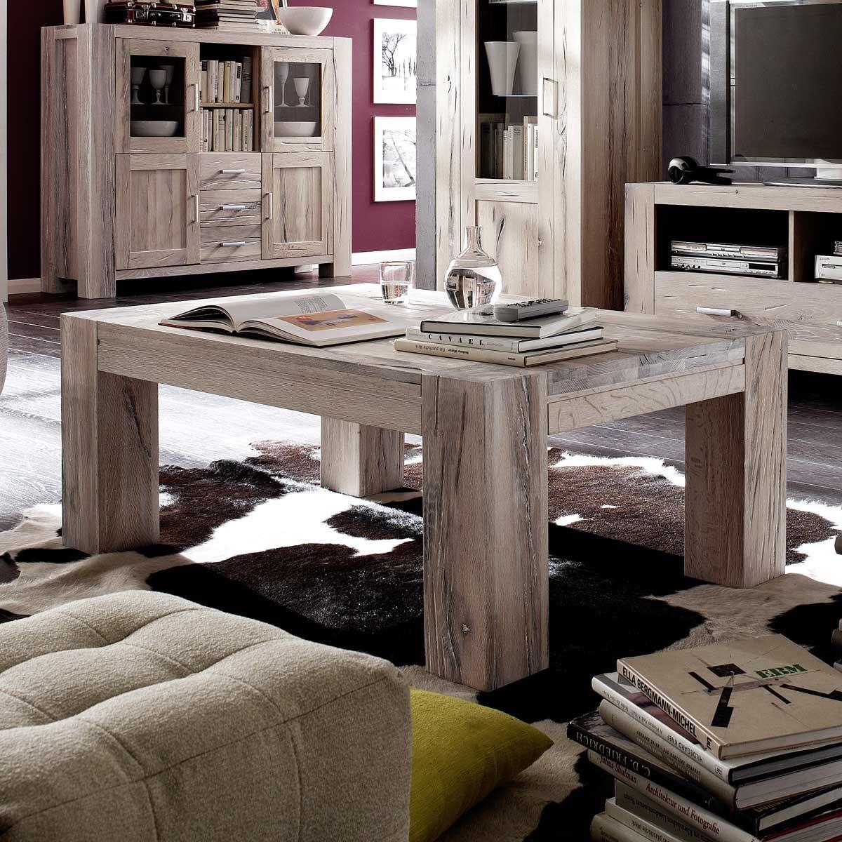 Couchtisch Braxton 120x70 In Eiche Massiv Weiss Gekalkt Mobel Ideal Wohnzimmertische Couchtisch Design Tisch