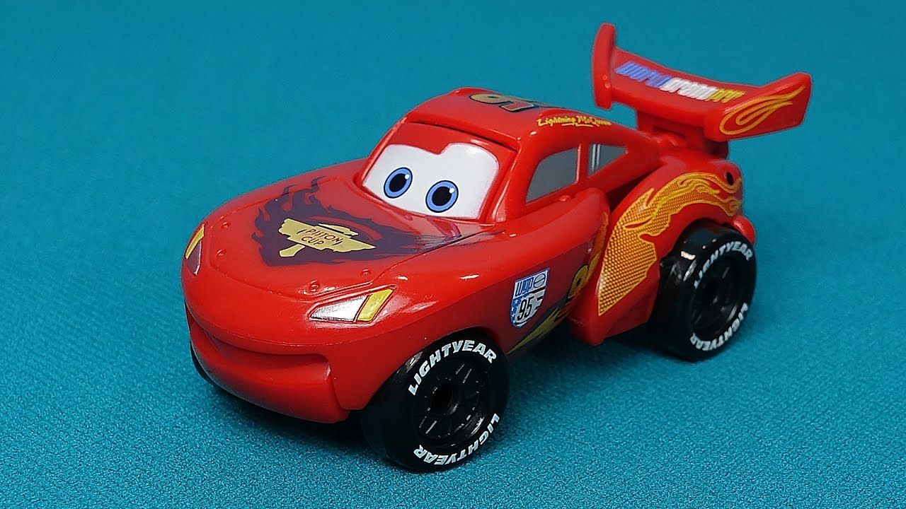 the cars in english my new toy lightning mcqueen