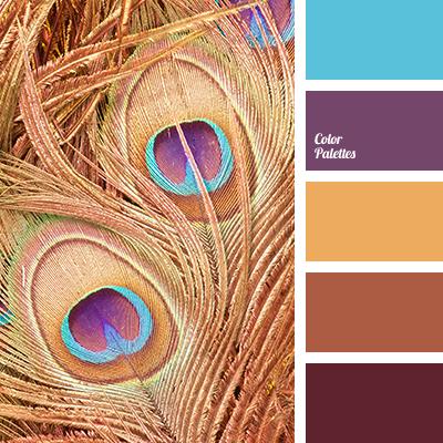 Blue Color Brick Bright Combination Matching Gold Magenta Orange Purple Brown Shades Of
