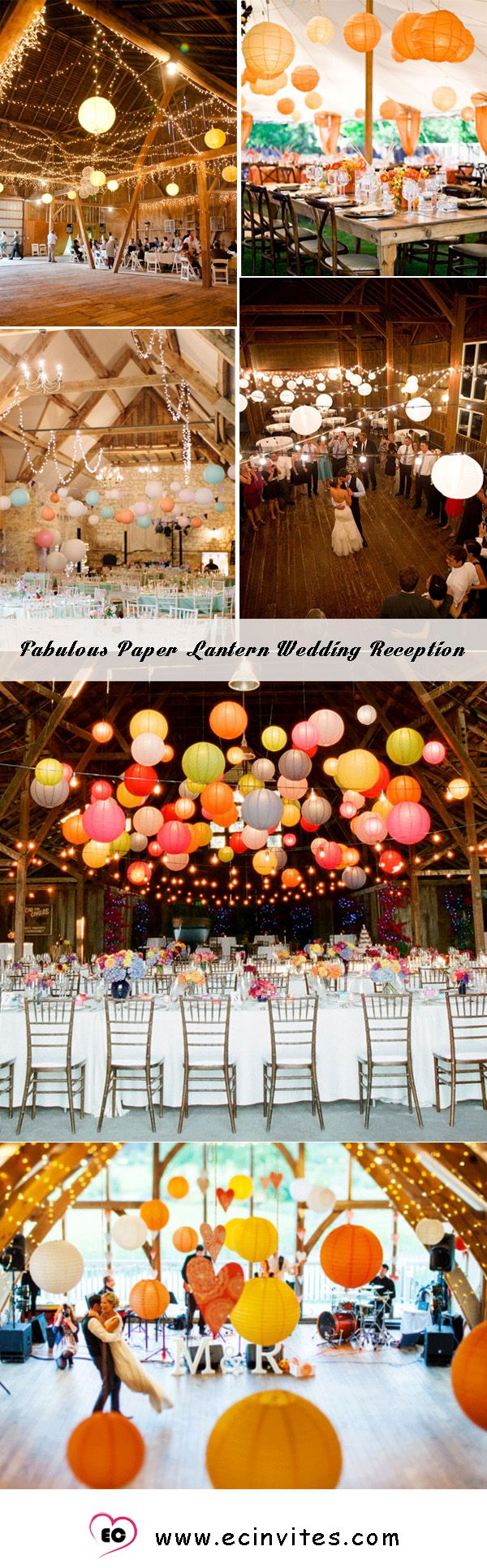 Paper Paper Lantern Wedding Reception Setting 41