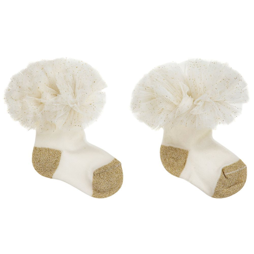 e77a4f6f99112d Beau KiD - Ivory Cotton   Tulle Socks
