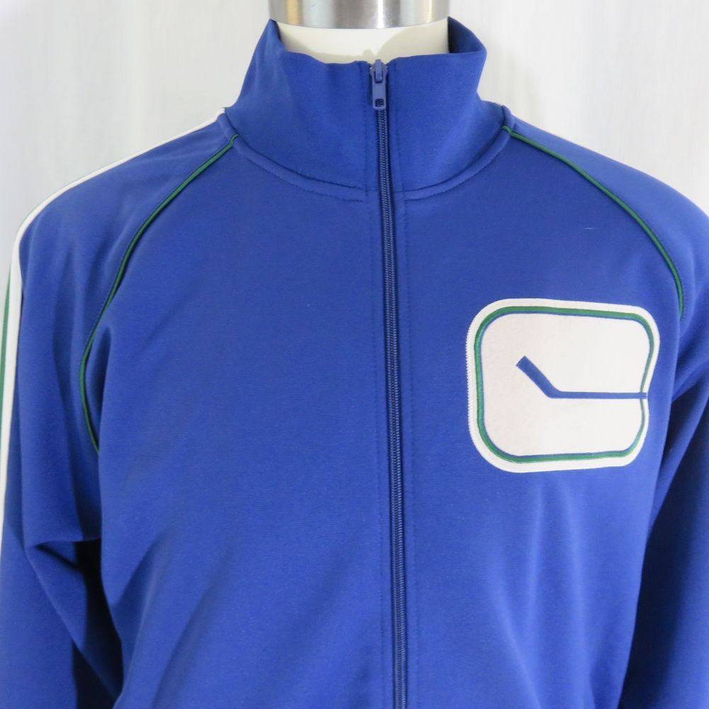Mitchell and Ness Vancouver Canucks NHL Vintage Hockey XL Track Jacket Blue   MitchellNess  VancouverCanucks 50ecf531c