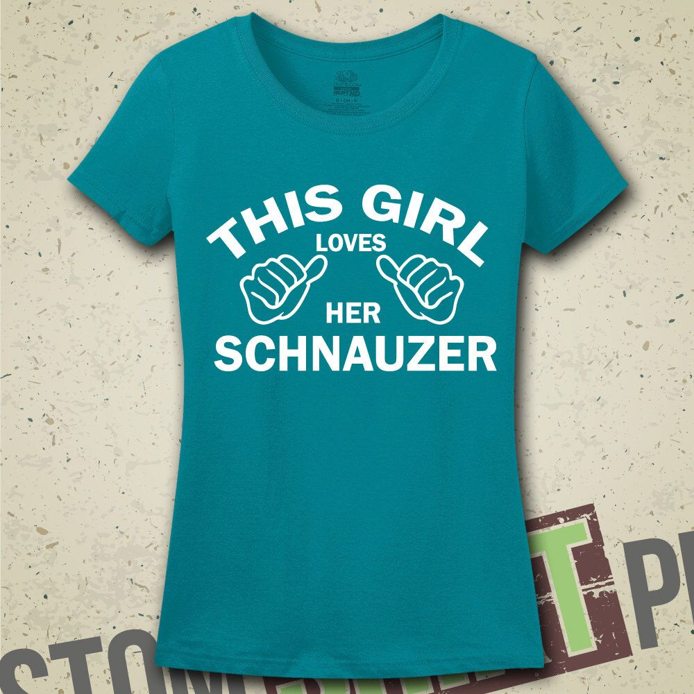 This Girl Loves Her Schnauzer T-Shirt - Tee - Shirt - Funny - Humor - Gift for Her - I Love Schnauzers - Dog - Dogs - Breeds - Schnauzer Dog by CustomShirtPrints on Etsy https://www.etsy.com/listing/200860324/this-girl-loves-her-schnauzer-t-shirt
