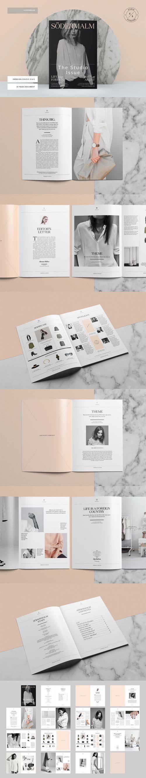Sodermalm Magazine 360248 | Magazines, Indesign templates and Salon logo