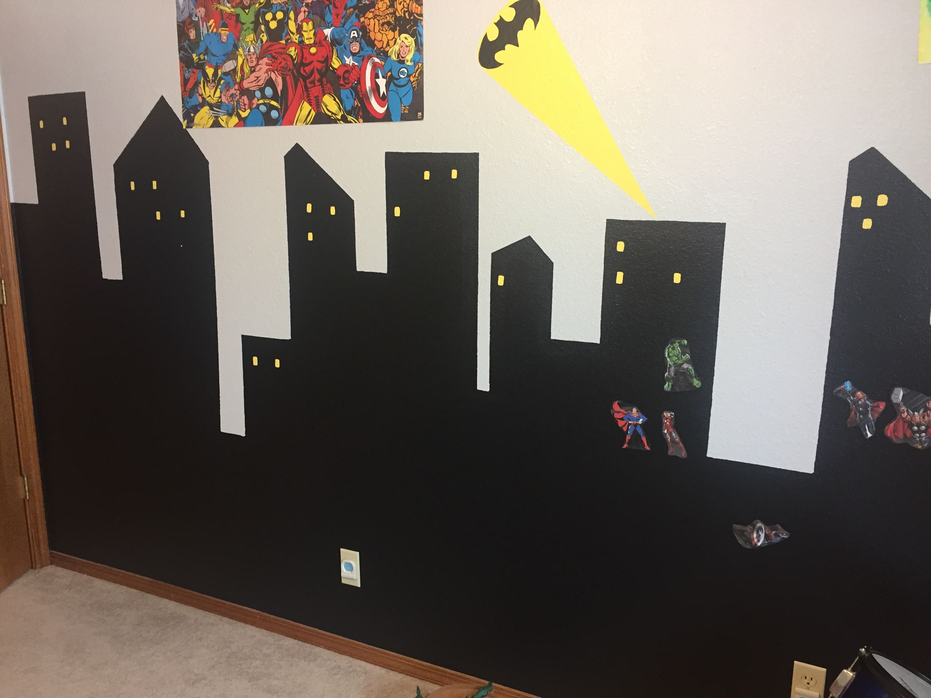 Wall Mural Gotham City Skyline