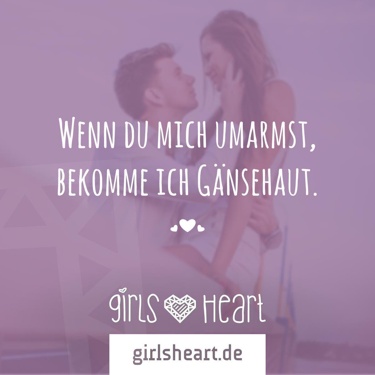 Mehr Sprüche auf: www.girlsheart.de  #liebe #umarmung #hug #zärtlichkeit #nähe #verliebt #schmetterlingeimbauch #love #zuneigung