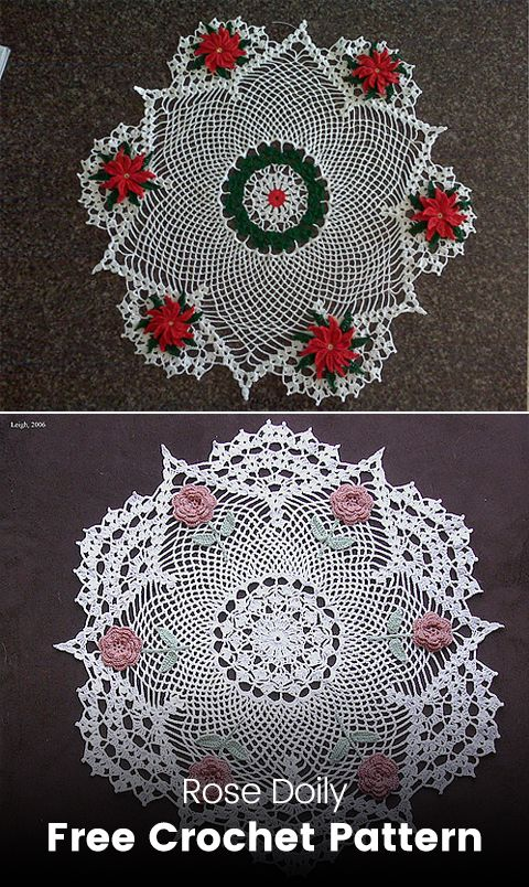 Rose Doily Free Crochet Pattern Crochet Crafts Style Homedecor