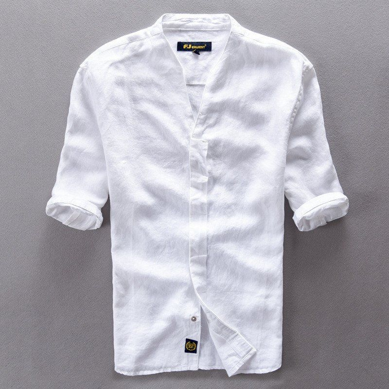 Quality Men s Cotton Linen Slim-Fit Short-Sleeve Casual Dress Shirt M-3XL 3  Colors   Men s Fashion   Pinterest   Dress shirts 6e60893ea50