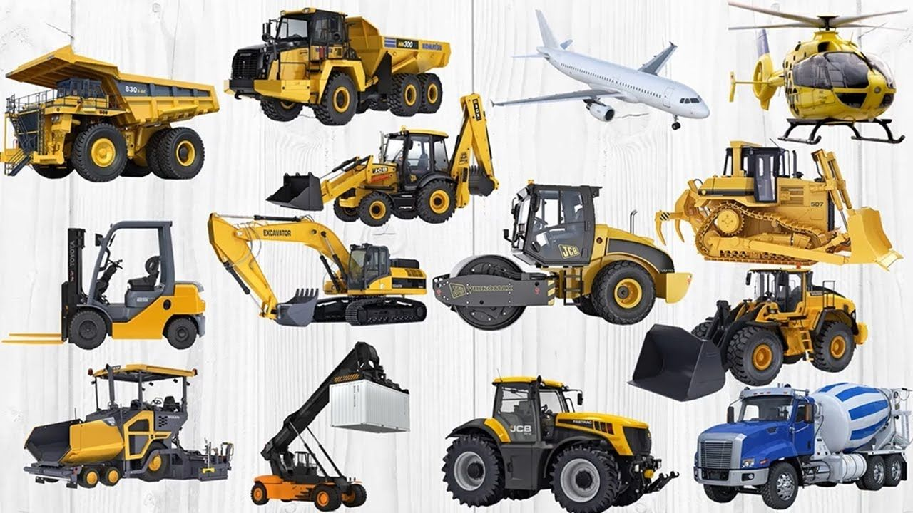 Cars Names For Kids To Learn Excavator Dump Truck Road