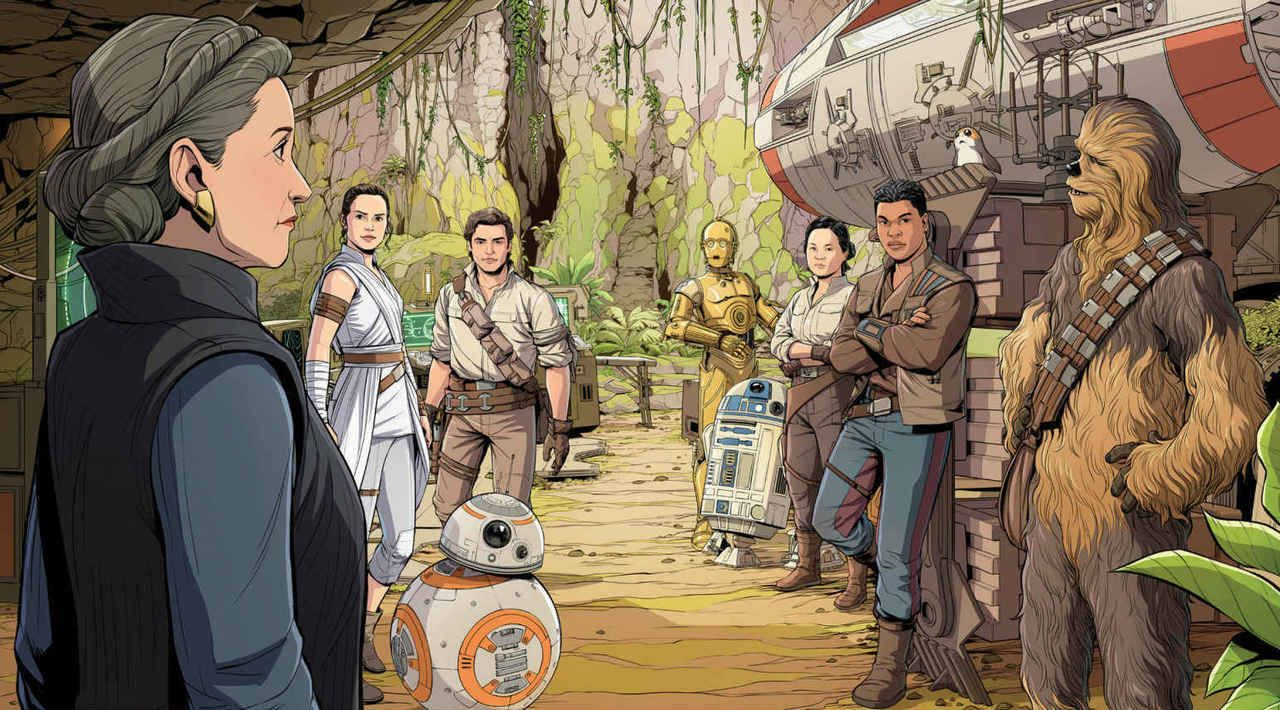 Artwork From Journey To Star Wars The Rise Of Skywalker Resistance Heroes World Of Reading By Diogo Saito And Luigi Aime