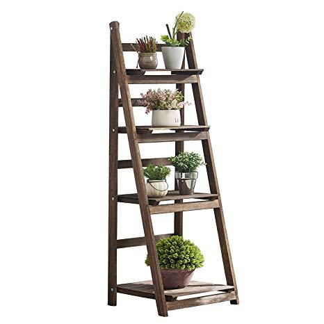 Amazon Com Rhf 45 Foldable Ladder Shelf Plant Stand Indoor Flower Pot Stand Flower Pot Ladder Foldi In 2020 Indoor Flower Pots Indoor Flowers Plant Stand Indoor