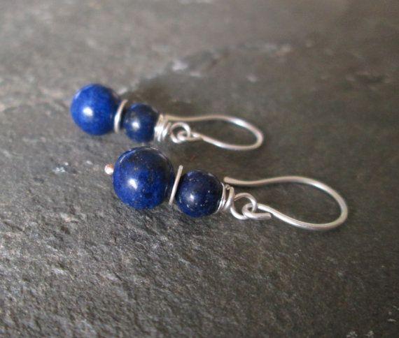 Lapis Lazuli Earrings Lapis Gemstone Jewellery Blue Drop