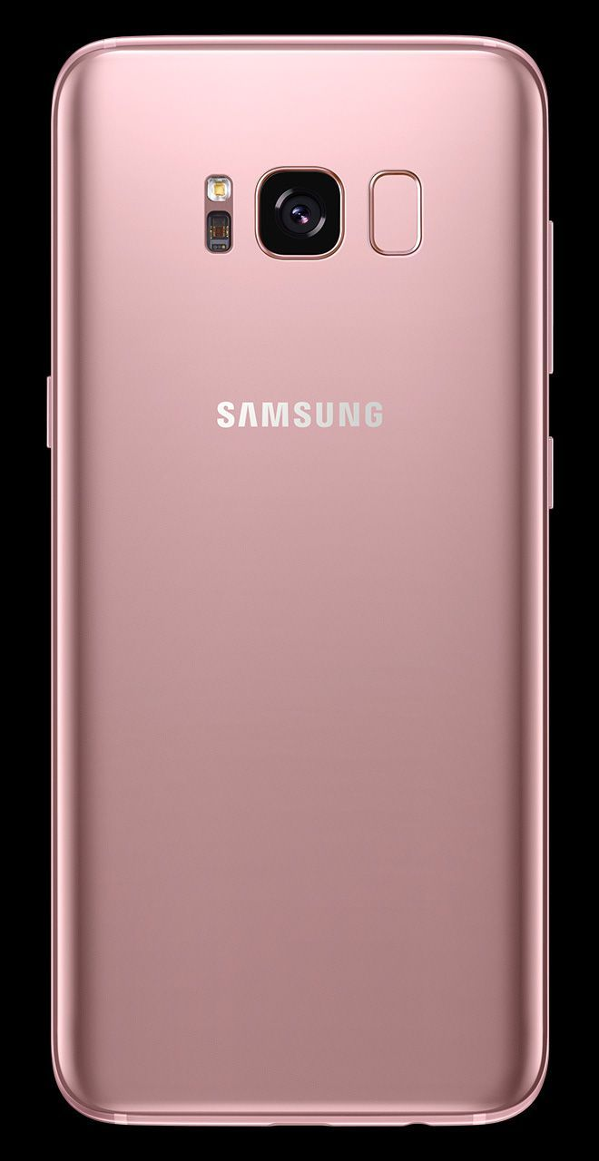 Back View Of Galaxy S8 In Rose Pink Samsung Galaxy Phones Galaxy Futuristic Phones