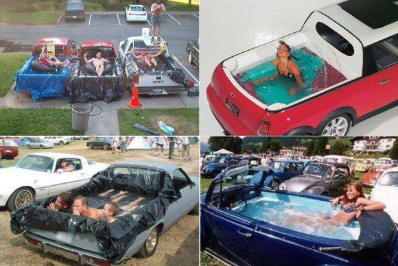 더워지는 날씨...수영장 딸린 차 한번 타보실래요?
