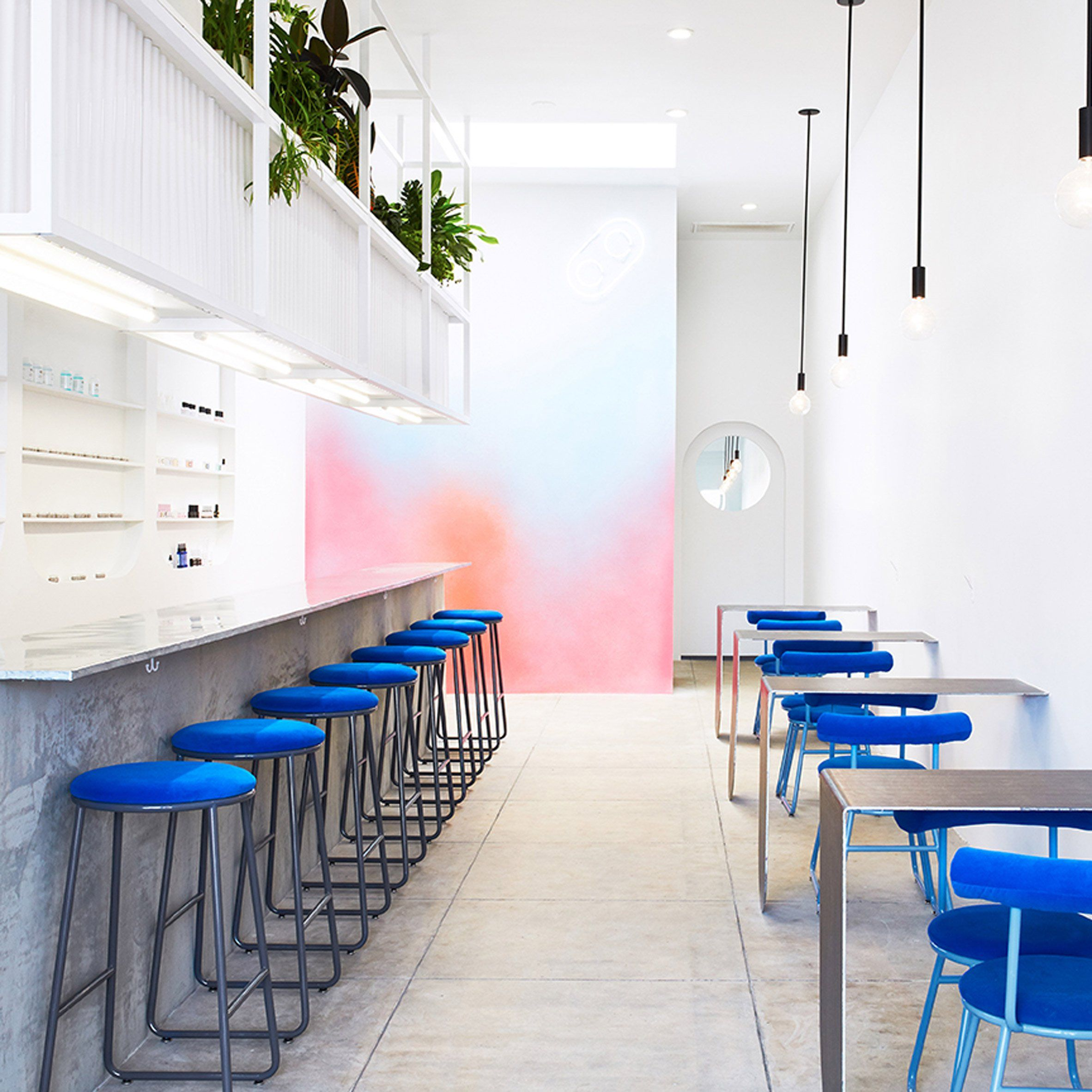 American architect J Byron-H has created a decluttered nail salon in ...