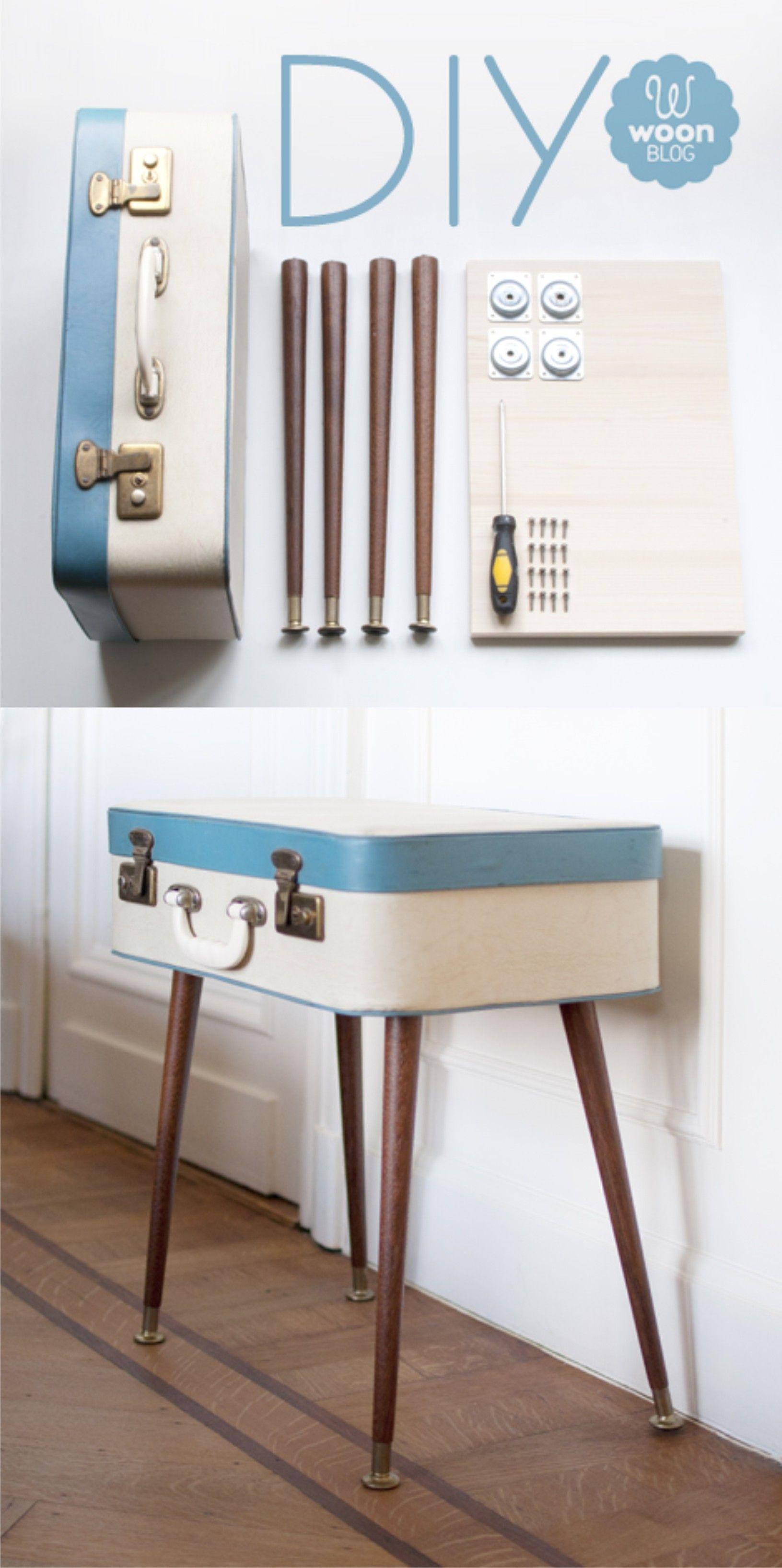 Diy suitcase table - Diy Furniture