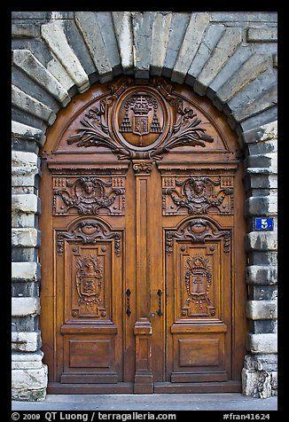 Historic wooden door. Lyon France  sc 1 st  Pinterest & Historic wooden door. Lyon France   DOORS   Pinterest   Lyon france ...