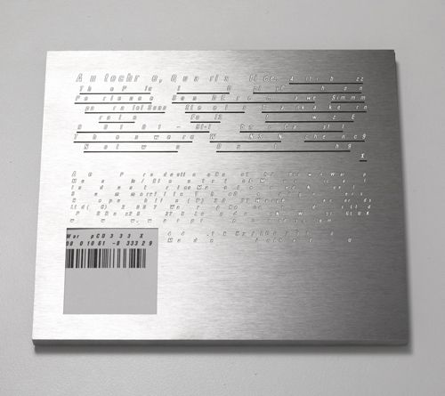 The Designers Republic's steel-encased CD for Autechre's Quaristice album