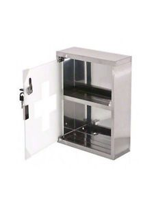 New First Aid Cabinet Stainless Steel Locking Medicine Case Emergency Wall Mount First Aid Cabinet Cabinet Locker Storage