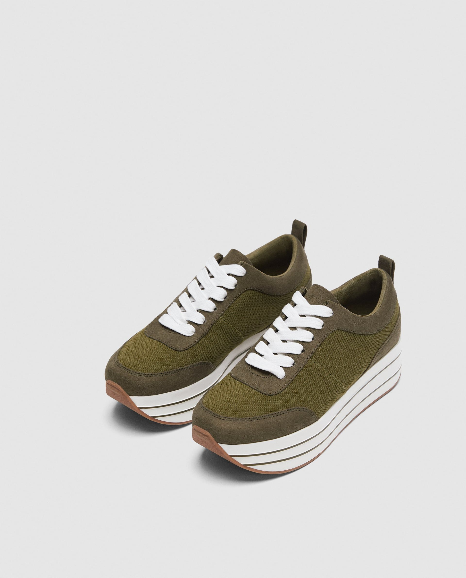 Image 4 Of Platform Sneakers From Zara Platform Sneakers Sneakers Platform Sneakers Outfit
