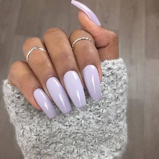 Light Purple Violet Nails Lilac Nails Lavender Nails