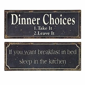 Signs for a kitchen. These are cute. (: