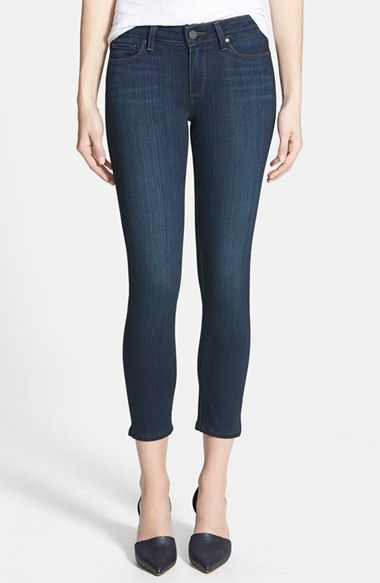 Paige Denim 'Verdugo' Crop Skinny Jeans (Cameron) available at #Nordstrom. Tried these on and loved them.