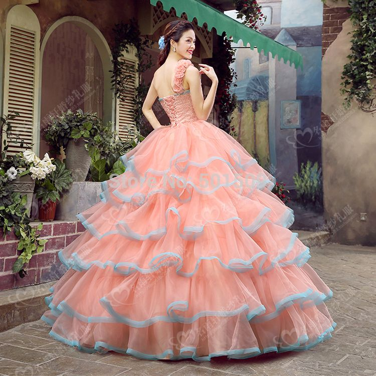 Medieval Renaissance Gown beading floral full ruffle dress wedding ...