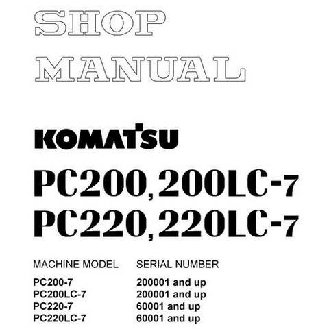 Komatsu PC200-7, PC200LC-7, PC220-7, PC220LC-7 Hydraulic