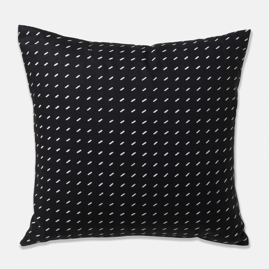BLACK PILLOW COVER. 22x22 pillow cover