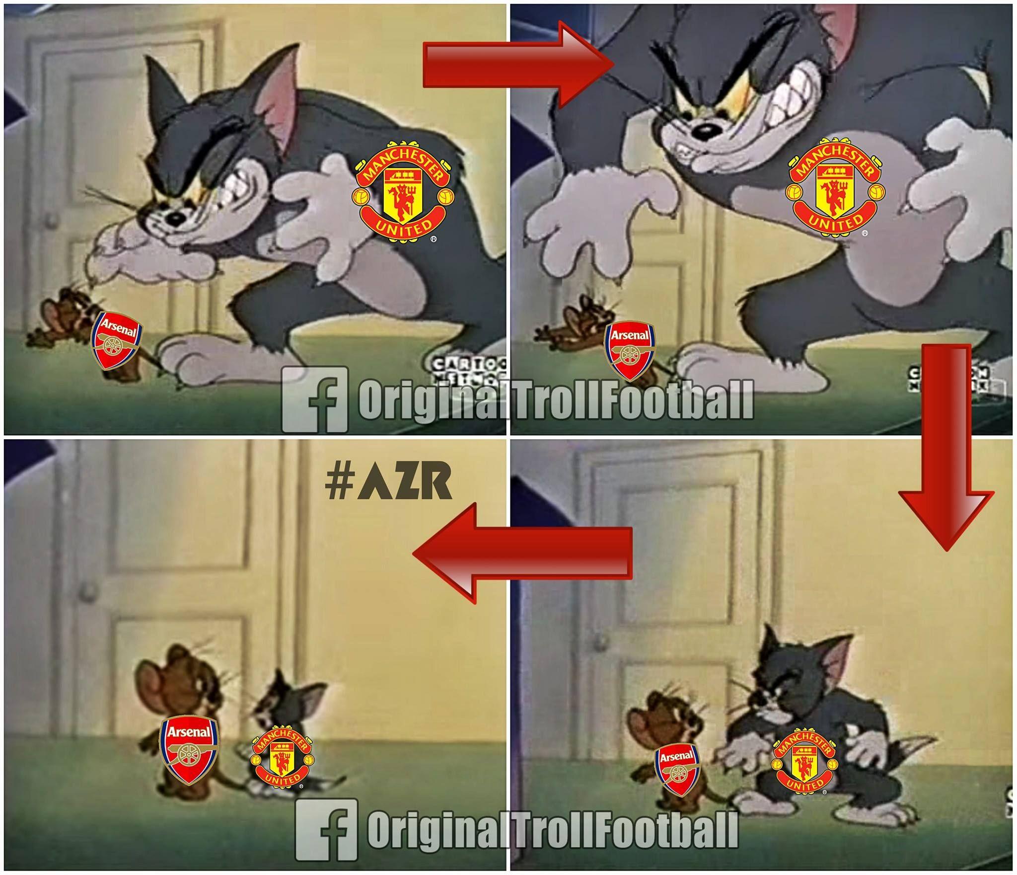 Arsenal Vs Manchester United Arsenal Vs Manchester United Football Jokes Manchester United