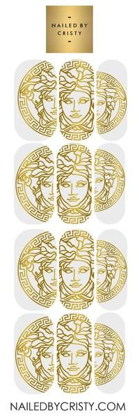 Decals- Versace Medusa CLEAR | Nail Decals in 2019 | Nail