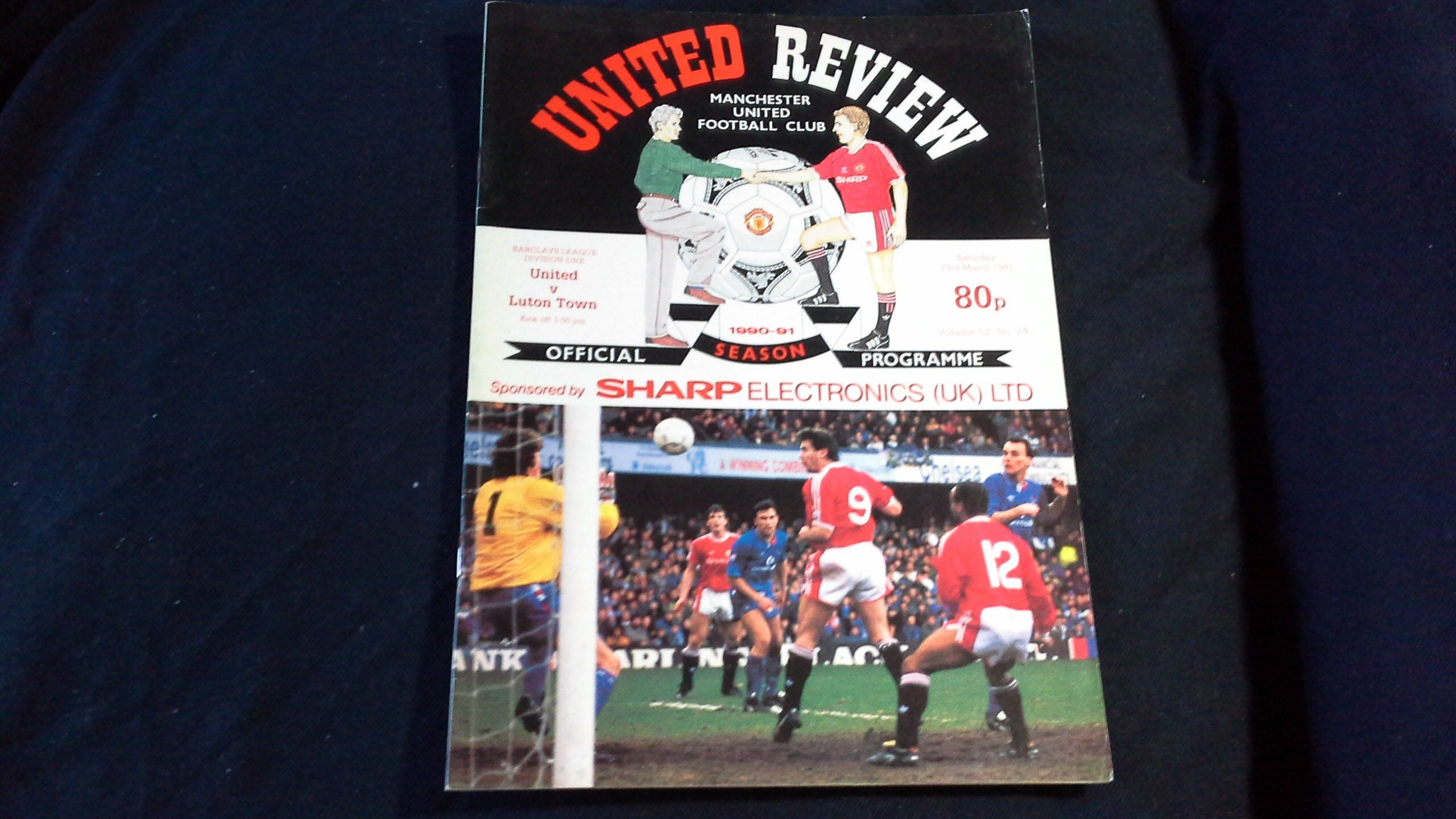 Manchester United V Luton Town Saturday 23rd March 1991 Football Programme Manchester United Football Program Manchester