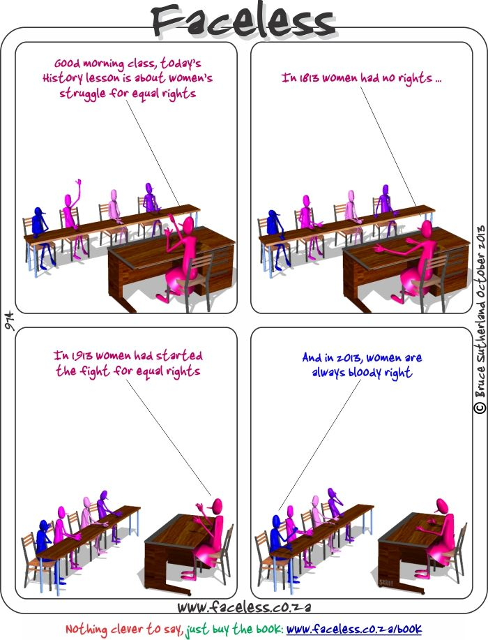 Faceless Comics: Good morning class, today s History lesson