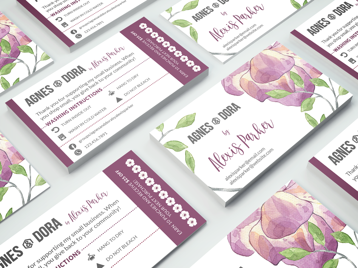 So excited to share these beautiful, double-sided, business card ...