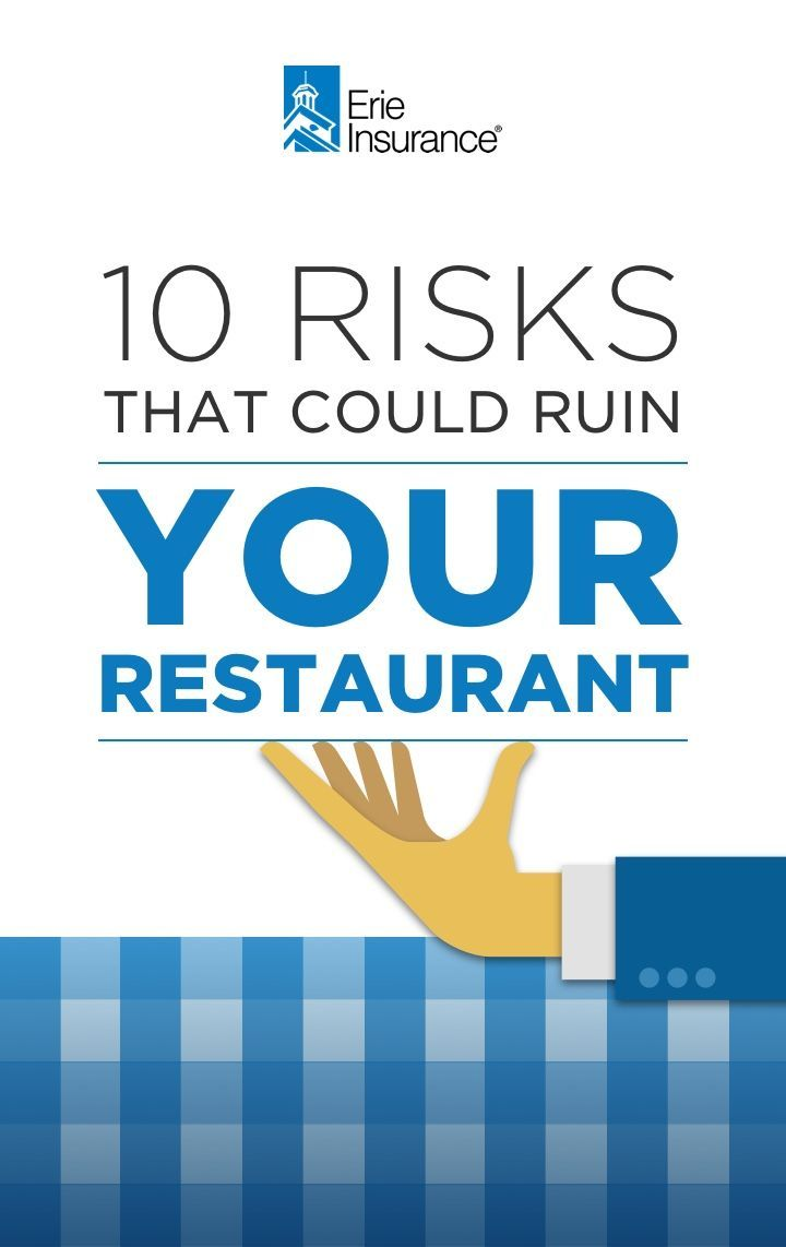 Erie Insurance Quote Fascinating Restaurant Owners Face Risks Many Other Small Business Owners Don't . Inspiration Design