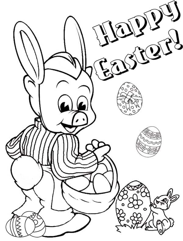 Piggly Wiggly Happy Easter Coloring Pages Bulk Color