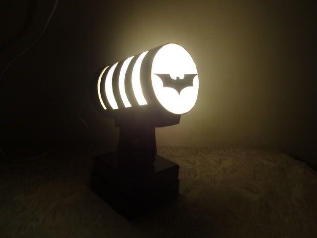 Lampada Lego Batman : Bat signal night lamp decor lighting batman light night lamps