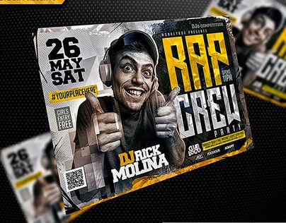 check out new work on my behance portfolio rap party flyer