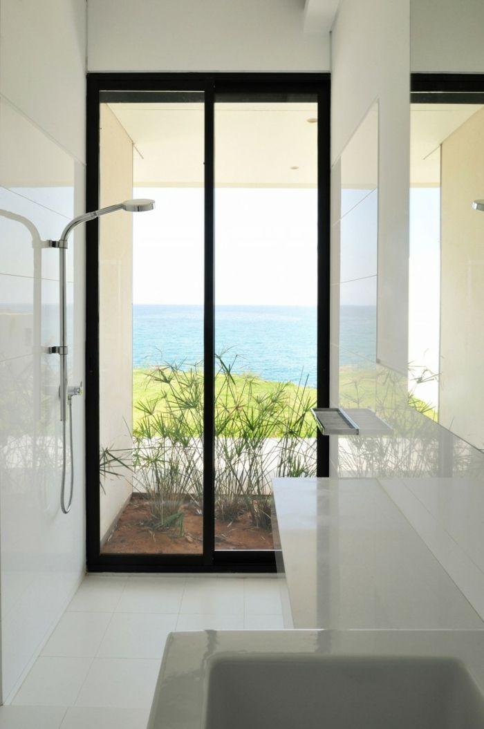 badezimmer gestalten weißes bad fenster dusche | bad | pinterest, Hause ideen
