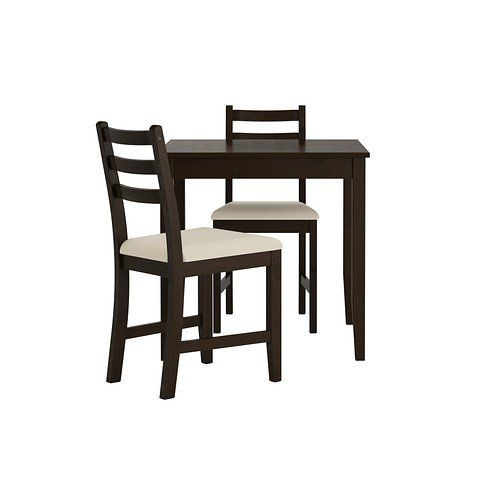 Ikea Table and 2 chairs, black-brown, Vittaryd beige 14202.2238.210 ...