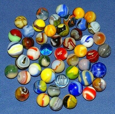 Ad Lot Of 50 Assorted Marbles Grp 1 In 2020 Glass Marbles Marble Assorted