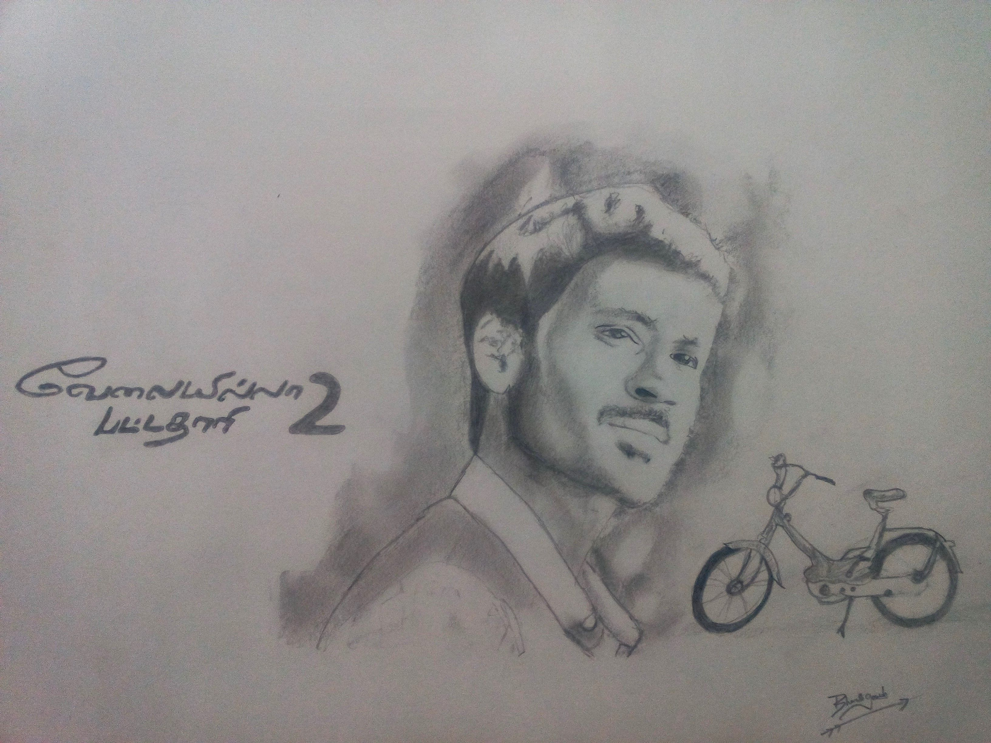 Check out this behance project actor dhanush vip 2 pencil sketch https
