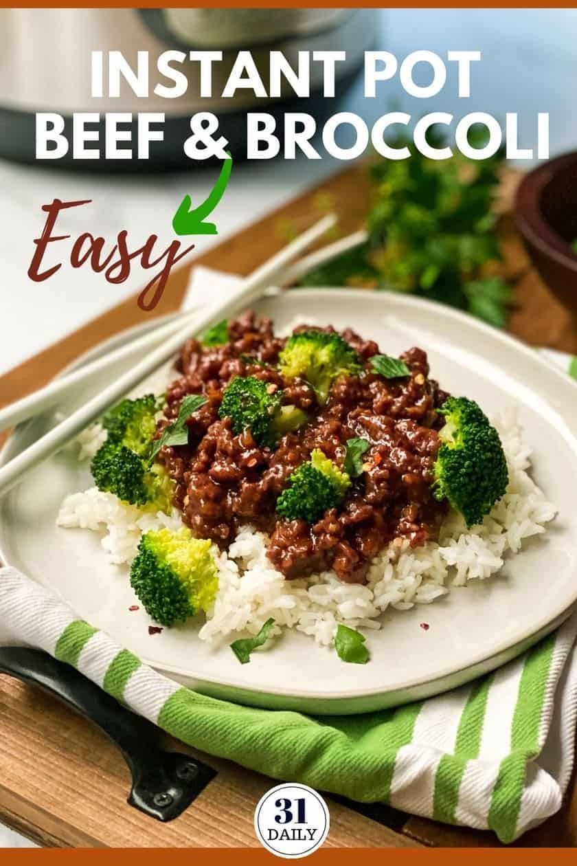 Easy Instant Pot Beef And Broccoli Recipe In 2020 Instant Pot Recipes Broccoli Beef Broccoli Dishes