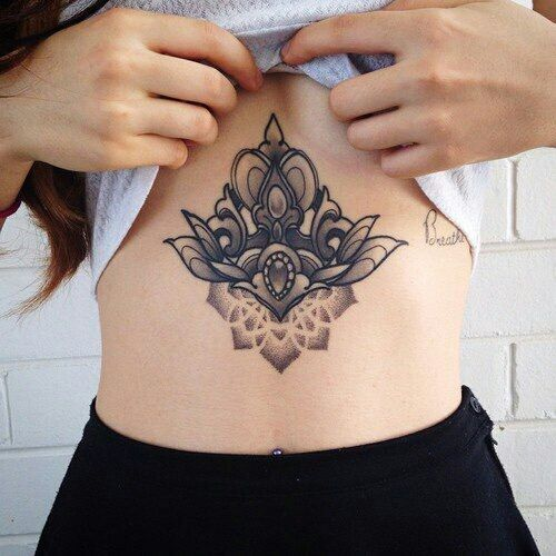 Unique Stomach Tattoos For Girls