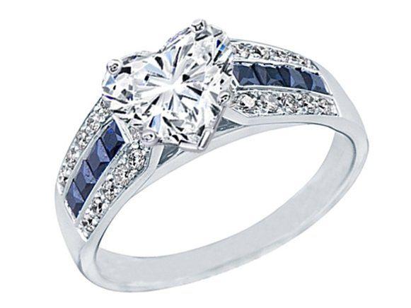 Fancy Heart Shape Diamond Vintage Horseshoe Engagement Ring 0 6ctw In 14k White Gold