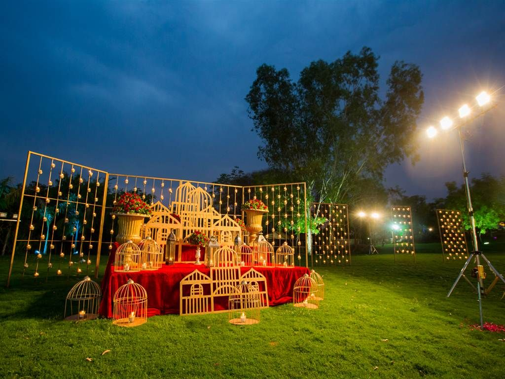 Rajasthani wedding stage decoration  Wedding Decor with unique and desi style Behind the Scene Wedding
