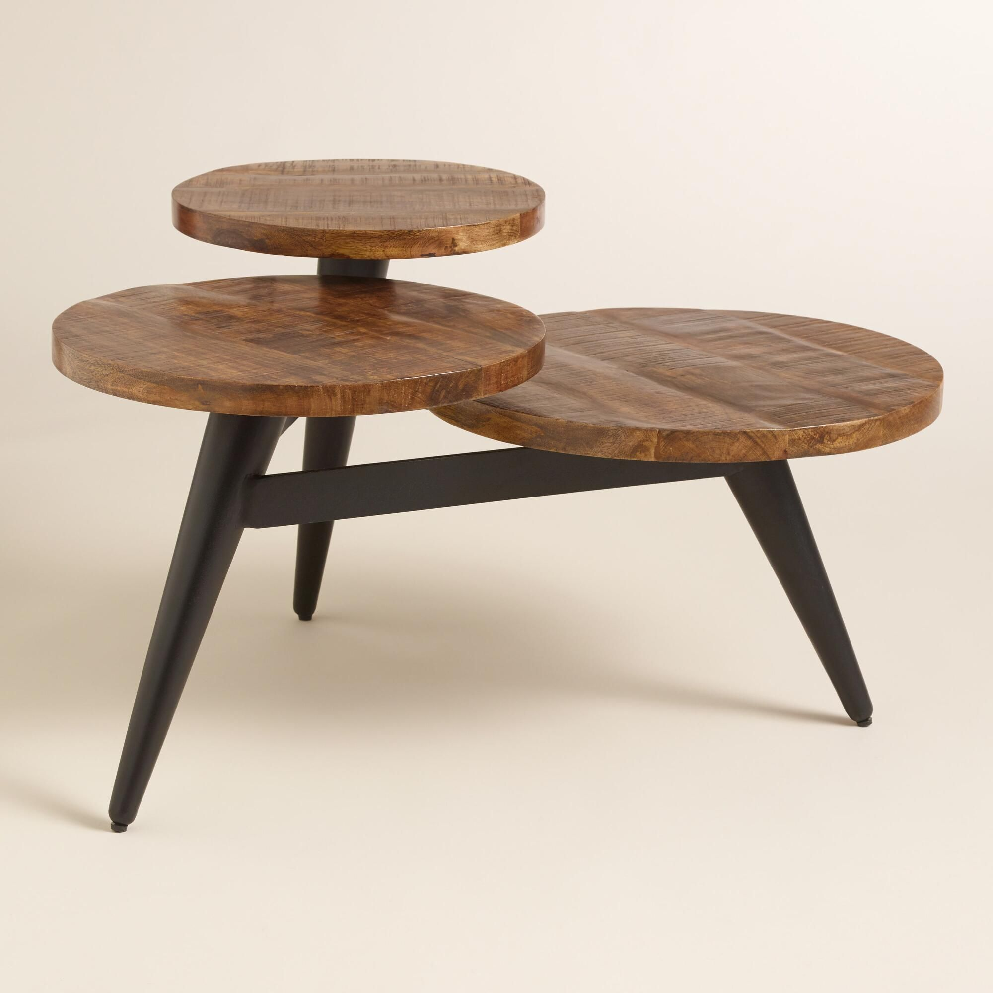 A standout statement piece our three tier coffee table features a